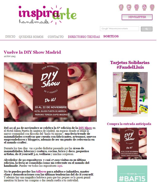 Inspiraartehandmade, plataforma de venta de materiales (10/11/2015)