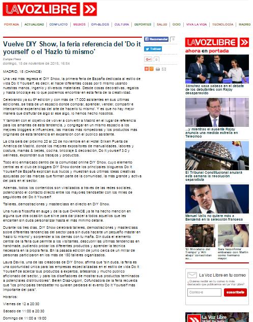 Lavozlibre, diario online (15/11/2015)