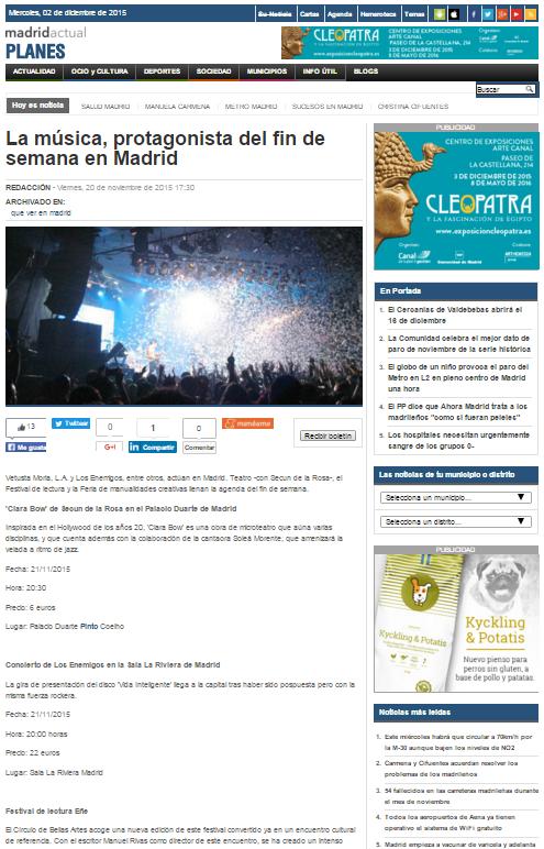 Madridactual.es, diario online (20/11/2015)