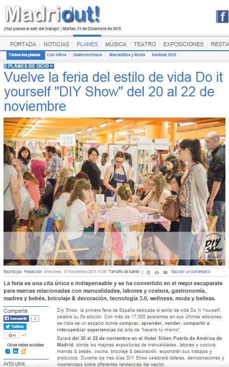 Madridout, ocio en Madrid (18/11/2015)