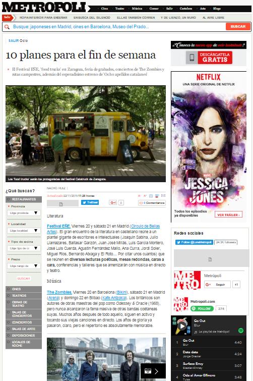 Metropoli, ocio de Elmundo.es, (22/11/2015)