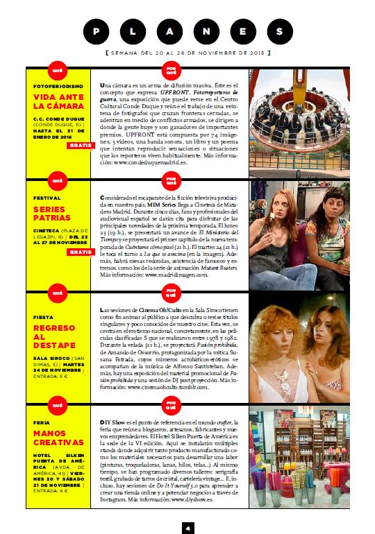Revista Metropoli (Del 20 al 26 de Noviembre 2015)