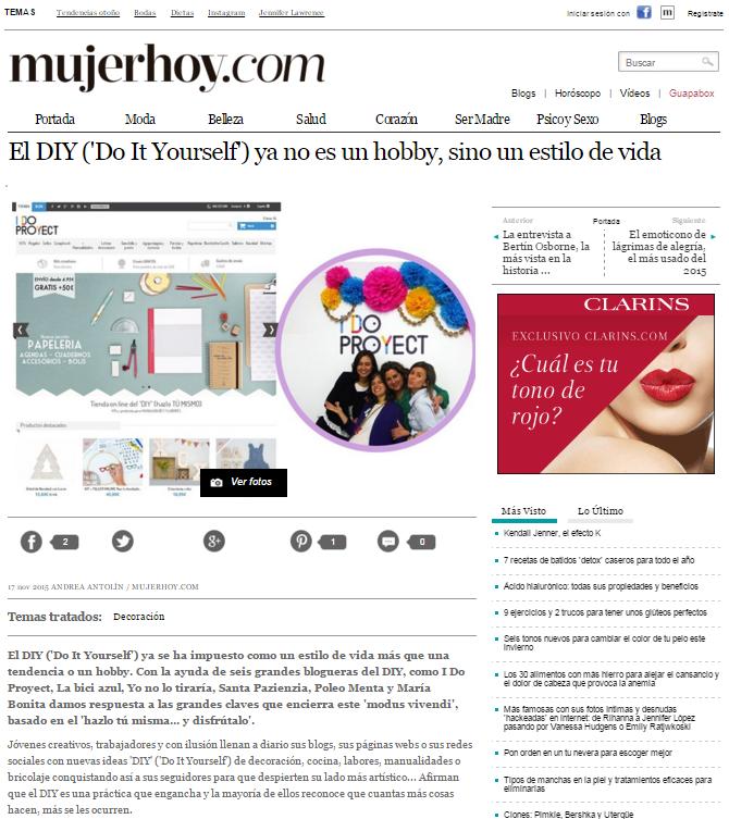 Mujerhoy.com, revista lifestyle (17/11/2015)