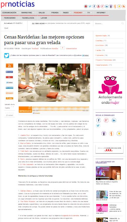 Prnoticas, diario online (20/11/2015)