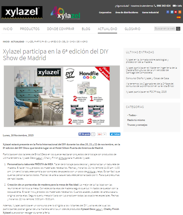 Xylazel, productos brico&deco (16/11/2015)