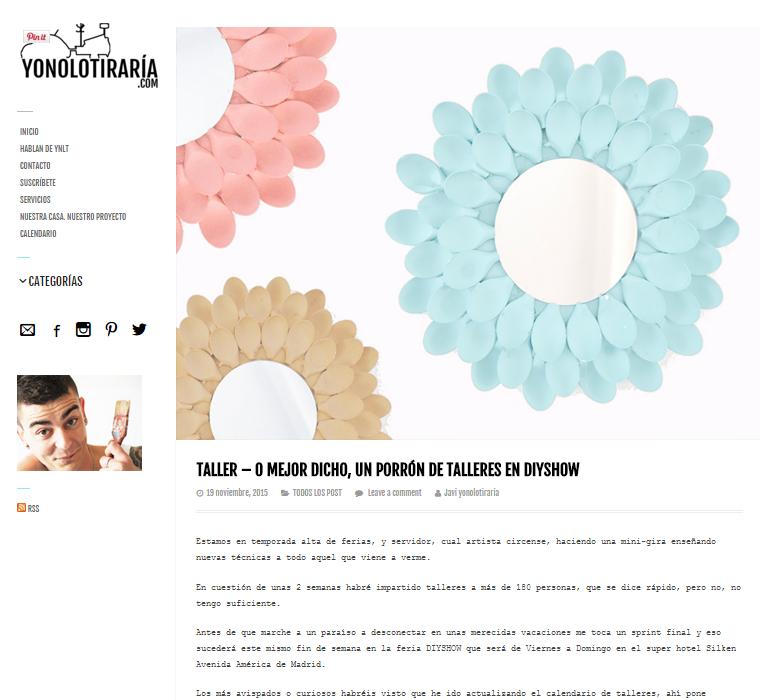 Yonolotiraria, blog DIY (19/11/2015)