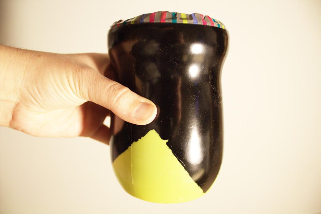 DIY de reciclaje - Portalapices DIY con bote de cola-cao
