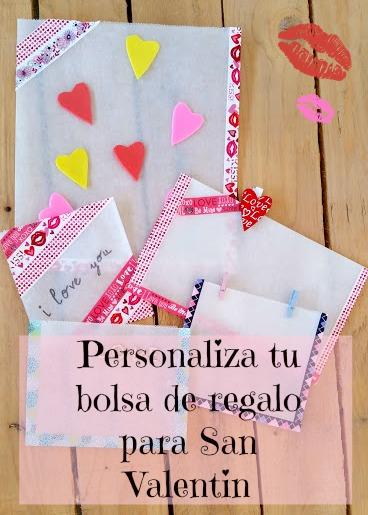 Personaliza tu bolsa de regalo para San valentin