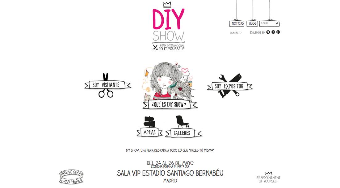 Página de inicio de la web DIY Show