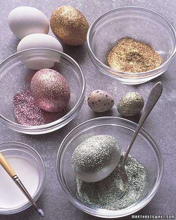 huevos de pascua purpurina