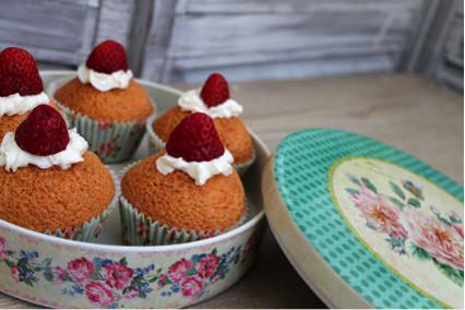 Receta de Cupcakes con Nesquik de fresa de Con sabor a vintage
