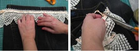 DIY de moda: Ganchillo en la parte trasera de nuestros shorts
