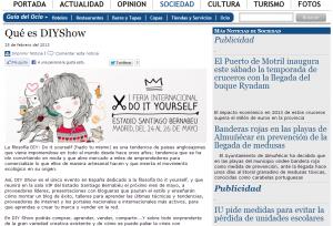 DIY Show en el periódico digital Costa Digital