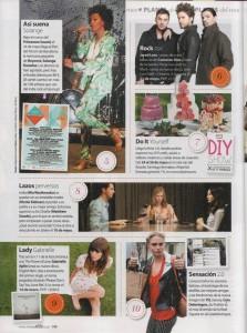 Aparición de DIY Show en la revista Cuore Stilo de Abril