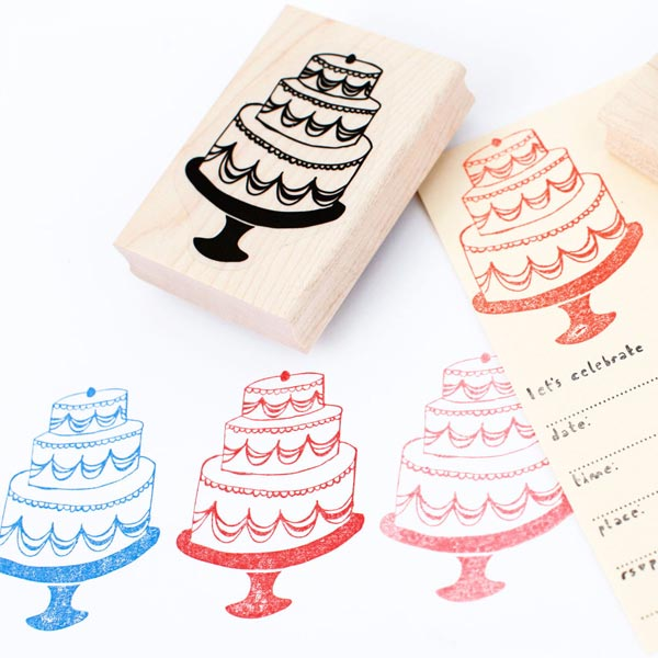 Sellos de madera para invitaciones (Mummy Crafts)