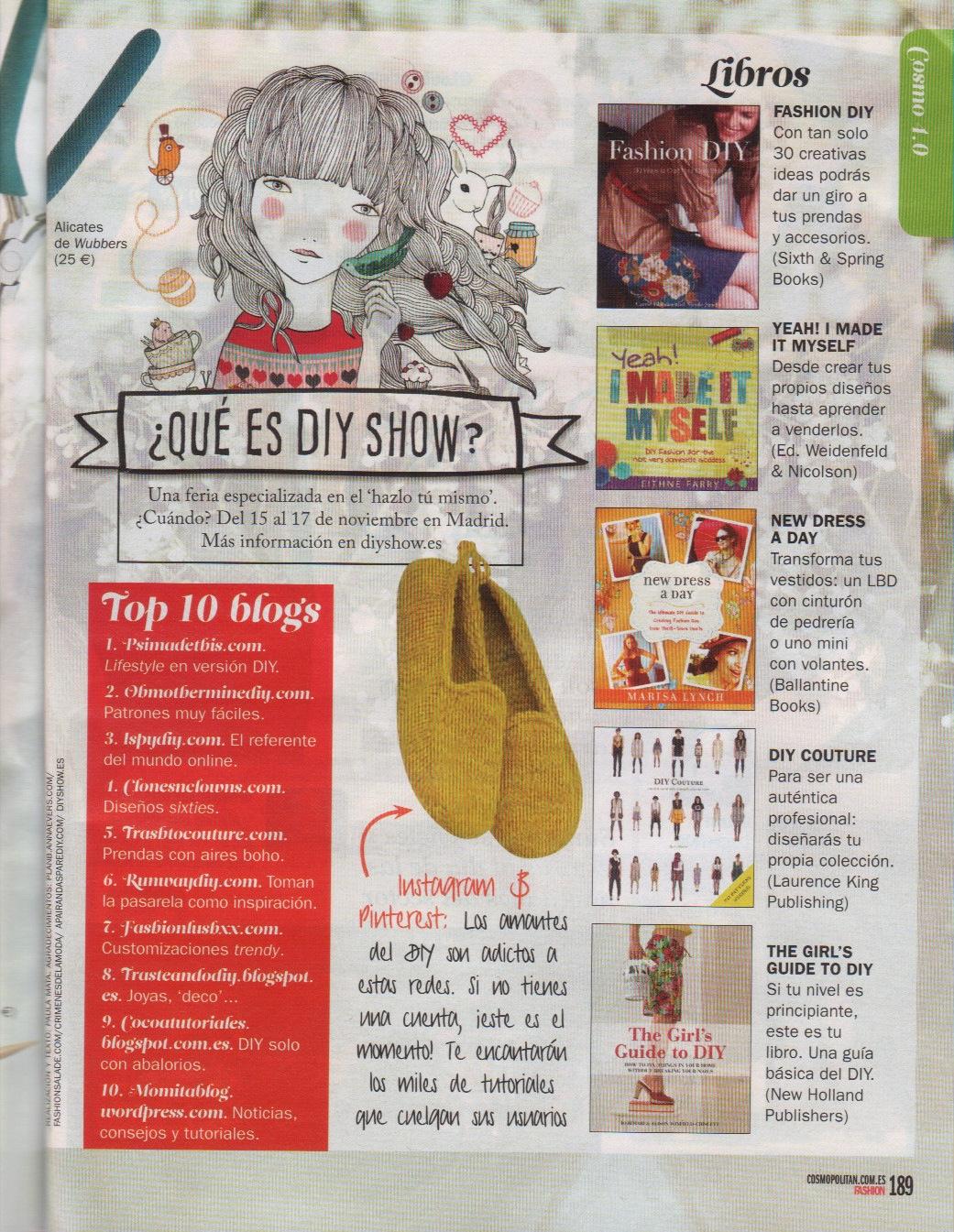Revista Cosmopolitan sobre moda, lifestyle y belleza (Mayo)
