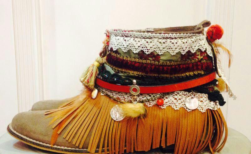 Botas Cheyenne con materiales de Mummy Crafts