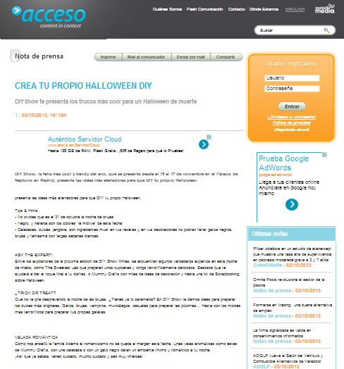 Acceso.com, herramientas de comunicación y marketing 2-10-13