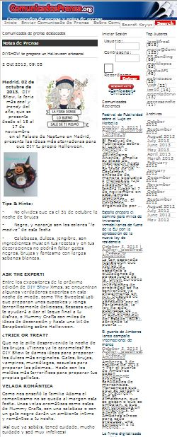 Comunicadosdeprensa.org, comunicados y notas de prensa 2-10-13