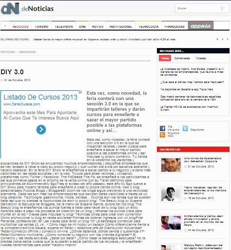 De Noticias, portal de noticias (21-10-13)