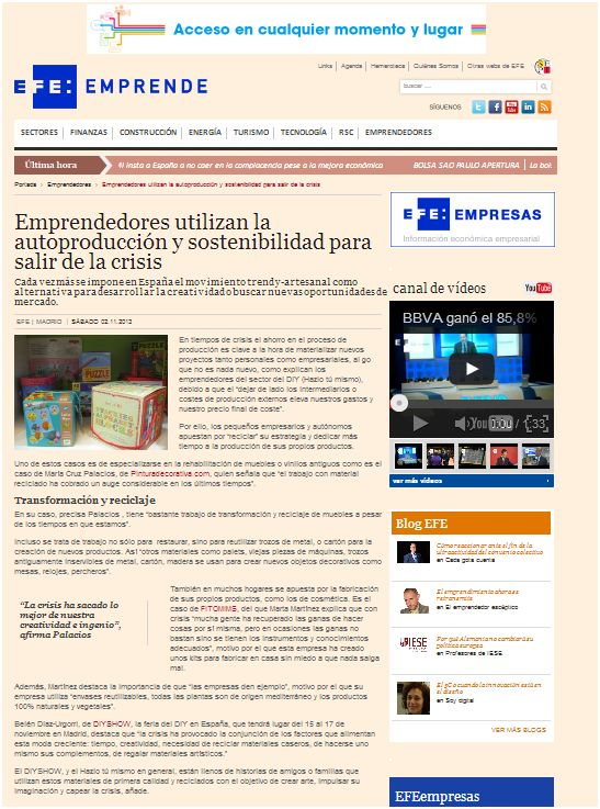 EFE Emprende, agencia de noticias sobre emprendedores (2-11-13)
