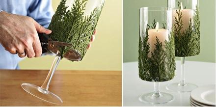 Decoraci n de mesas de navidad diy - Centro de navidad con velas ...