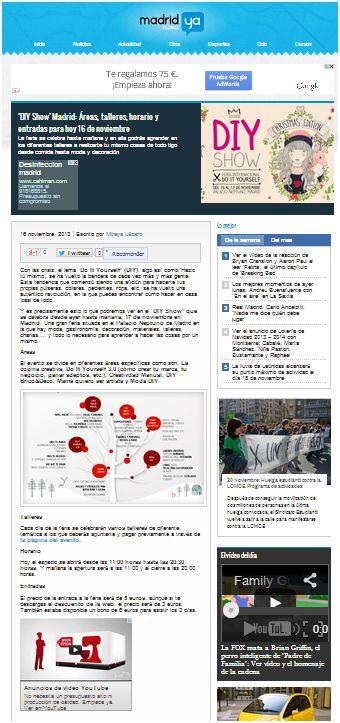 Madridya.es, portal sobre noticias y actualidad en Madrid (16-11-13)