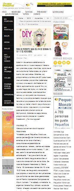 Pequenos monztruos, ideas y planes para familias con niños 14-11-13