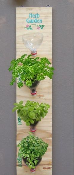 Reciclaje de botellas de plástico para jardinería