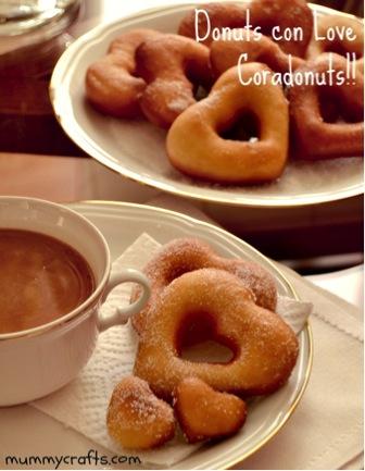 Receta de Donuts con forma de corazón