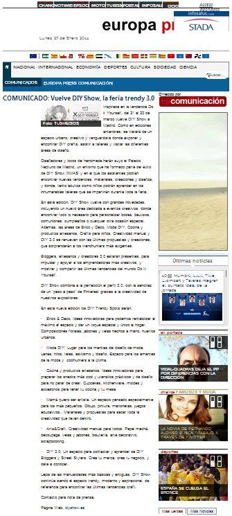 EuropaPress, noticias e información de actualidad (01-14)