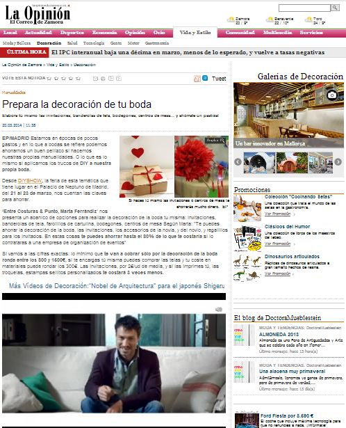 La opini n el correo de zamora 20 03 14 for Correo la 14
