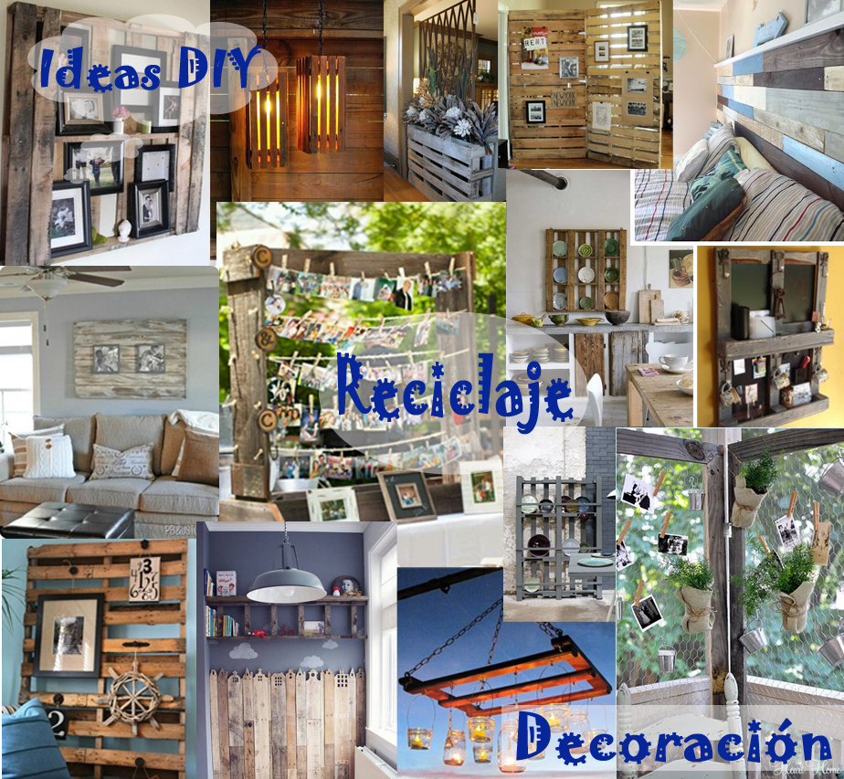Ideas decoracion reciclaje palets for Decoracion palets jardin