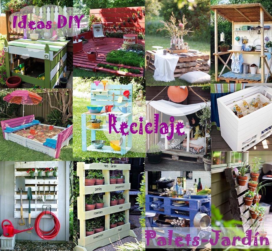 Ideas DIY de reciclaje de palets para el jardín