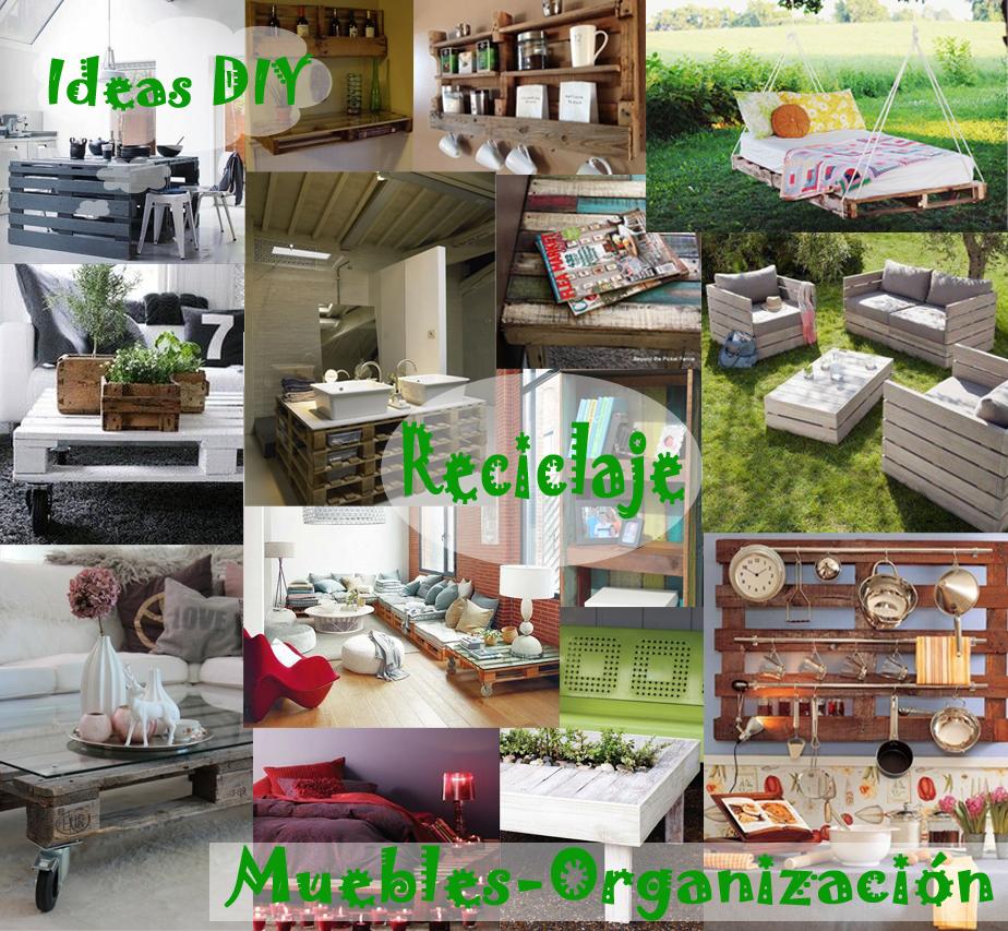 Ideas diy para el reciclaje de palets for Ideas muebles