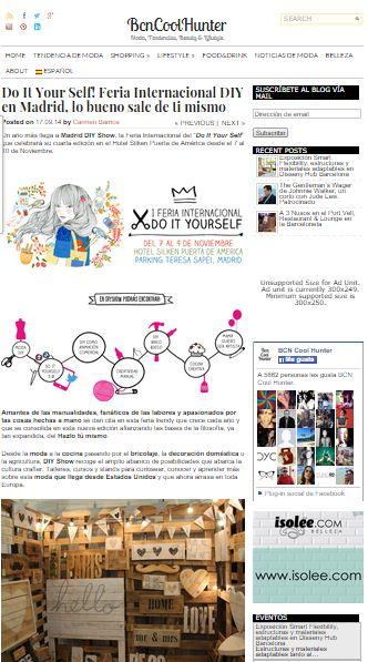 Bcn Cool Hunter, Blog de moda y tendencias (17/09/2014)