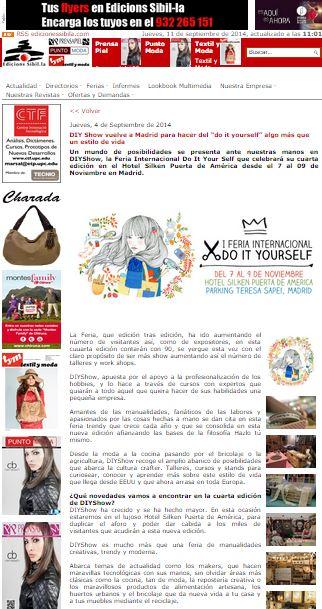 Ediciones Sibila, blog de moda (04/09/2014)