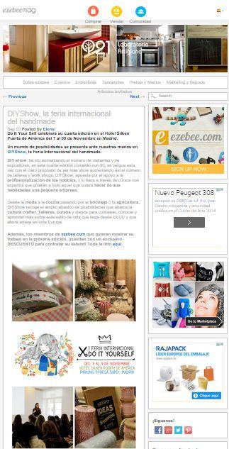 Ezebeemag, magazine DIY and Art (03/09/2014)