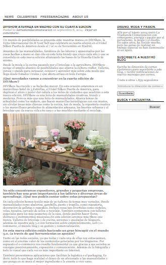 La Trastienda Comunicación, noticias de moda y diseño  (08/09/2014)