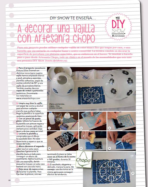Revista Mollie Agosto 2014 Tutorial Artesanía Chopo