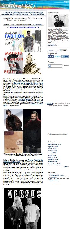 Blog de RTVE, la agenda fashion del otoño (4-09-2014)