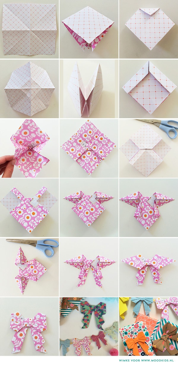 Ideas creativas realizadas con papel con diferentes diseños