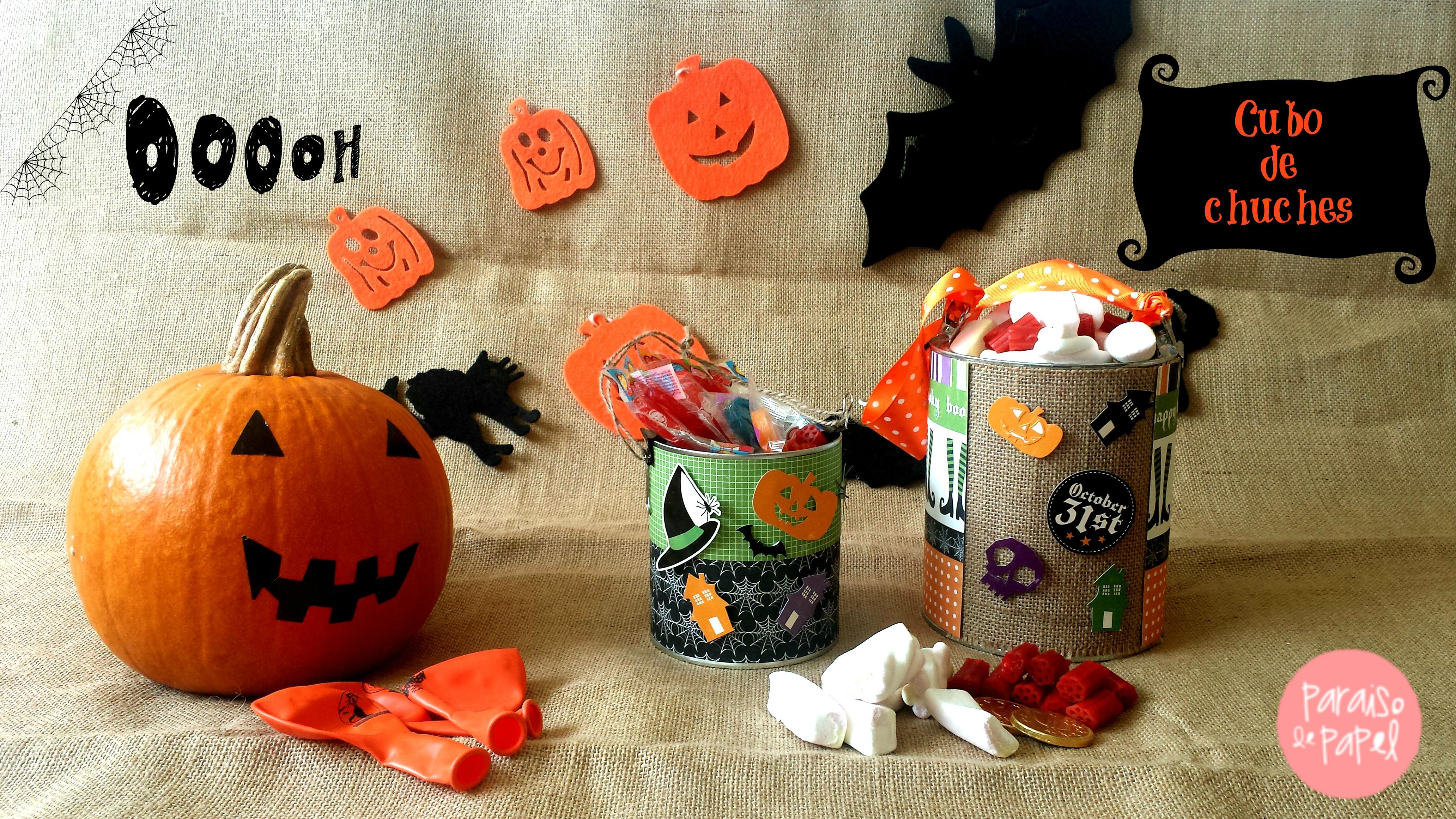 Tutorial: Cubo de chuches para Halloween