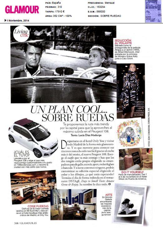 Glamour, revista de actualidad y tendencia (Noviembre 2014)