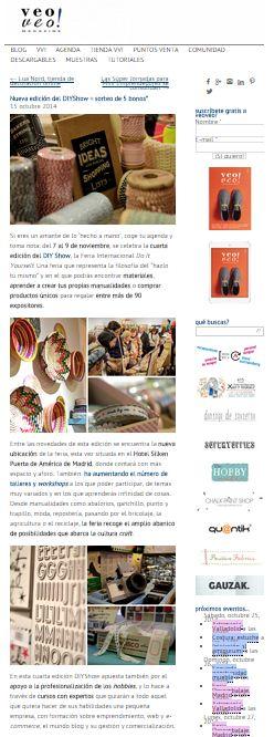 Veo Veo magazine, la revista para manos inquietas 15-10-2014