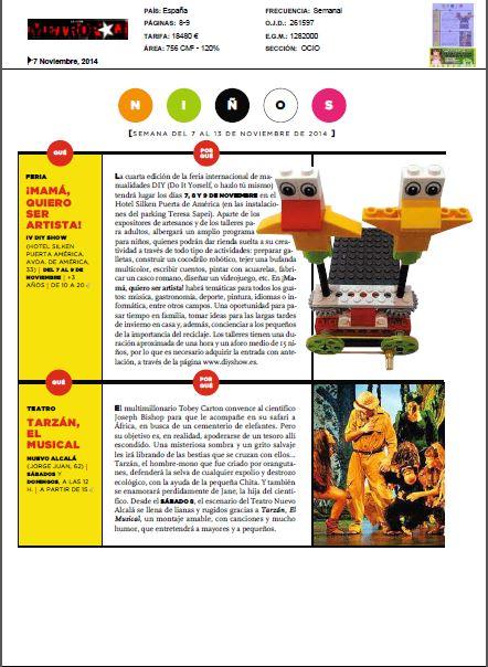 Metrópoli, revista de ocio (7 al 13 de Noviembre)