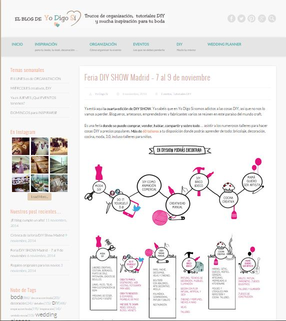 Yo Digo Si, blog DIY e inspiración para bodas (06/11/2014)