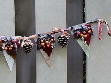 banderolas con piñas